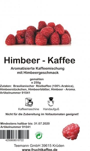 Himbeer Fruchtkaffee gemahlen 250g Grundpreis 26.00/Kg