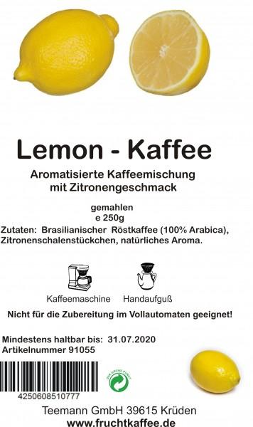 Lemon Fruchtkaffee gemahlen 250g Grundpreis 26.00/Kg