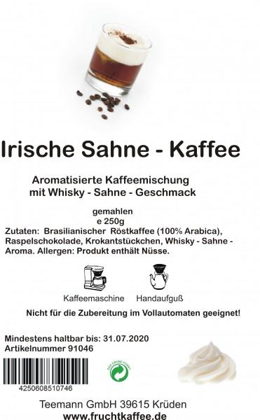 Irische Sahne aromatisierter Kaffee gemahlen 250g Grundpreis 26.00/Kg