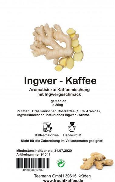 Ingwer Fruchtkaffee gemahlen 250g Grundpreis 26.00/Kg