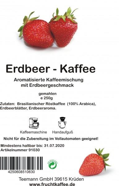 Erdbeer Fruchtkaffee gemahlen 250g Grundpreis 26.00