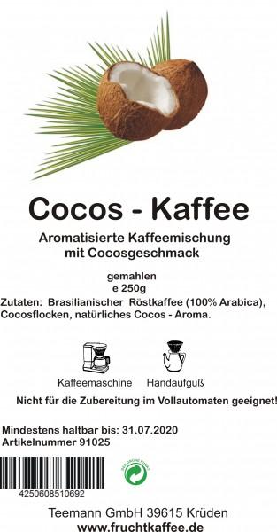 Cocos Fruchtkaffee gemahlen 250g Grundpreis 26.00/Kg