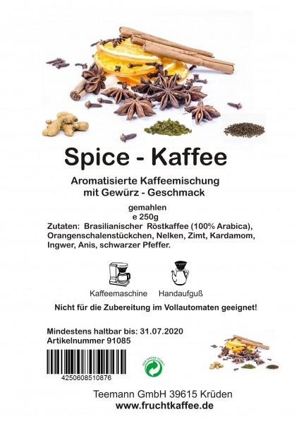Spice Gewürzkaffee gemahlen 250g Grundpreis 26.00/Kg