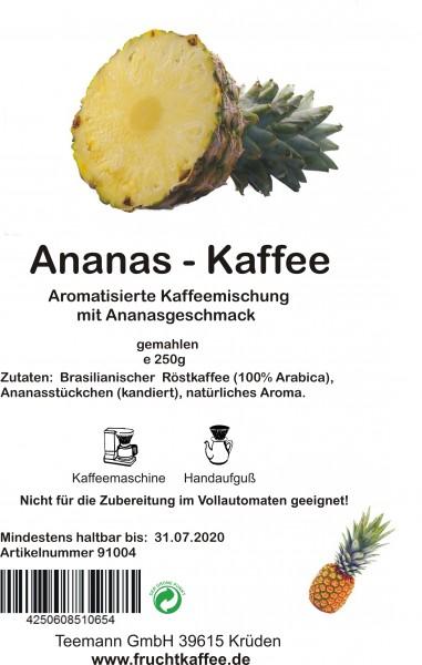 Ananas Fruchtkaffee gemahlen 250g Grundpreis 26.00/kg