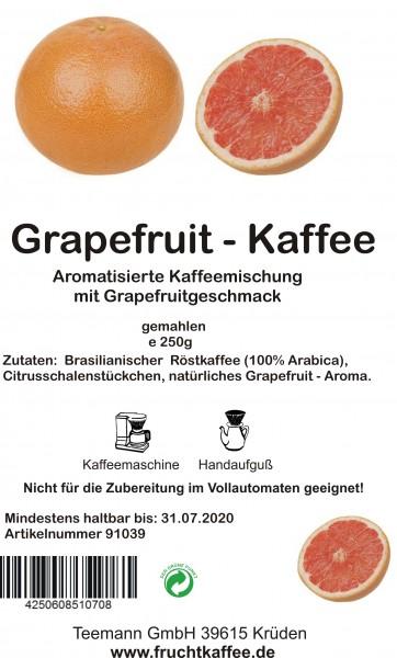Grapefruit Fruchtkaffee gemahlen 250g Grundpreis 26.00/Kg