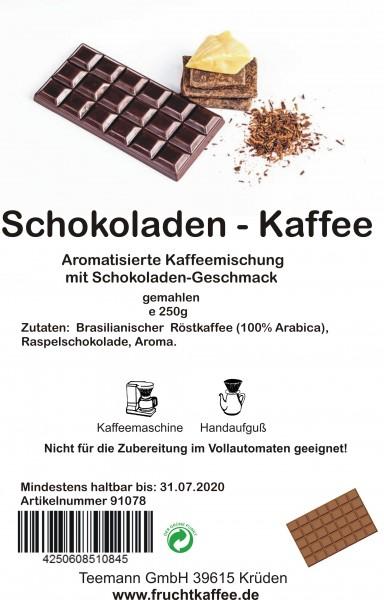 Schokolade aromatisierter Kaffee gemahlen 250g Grundpreis 26.00/Kg