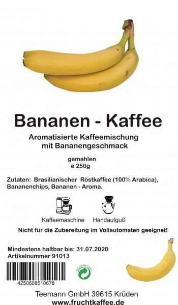Banane Fruchtkaffee gemahlen 250g Grundpreis 26.00/kg