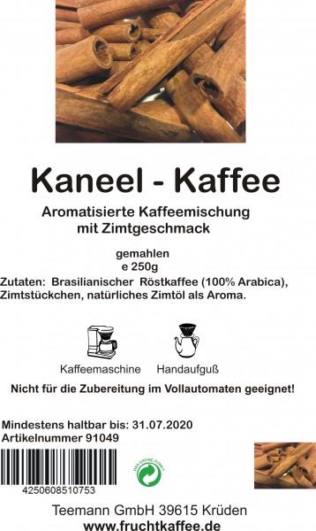 Kaneel (Zimt) aromatisierter Kaffee gemahlen 250g Grundpreis 26.00/Kg