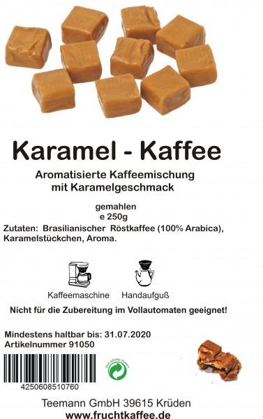 Karamel aromatisierter Kaffee gemahlen 250g Grundpreis 26.00/Kg