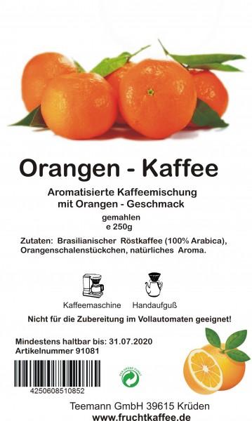 Orange Fruchtkaffee gemahlen 250g Grundpreis 26.00/Kg