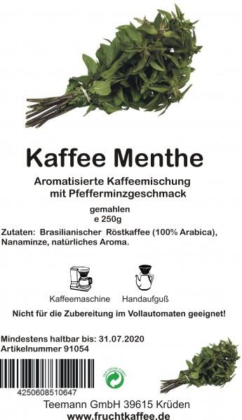 Kaffee Menthe aromatisierter Kaffee gemahlen 250g Grundpreis 26.00/Kg