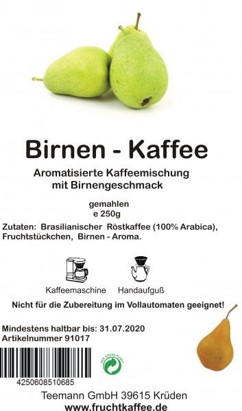 Birne Fruchtkaffee gemahlen 250g Grundpreis 26.00/kg